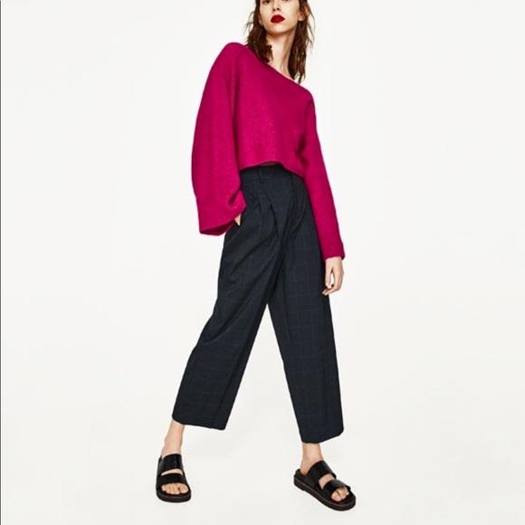 2cf61a6d Zara pink cropped sweater NWT