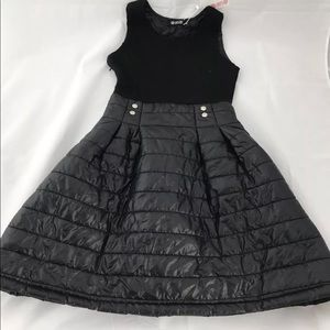 NWT Oasap Black Quilted Mini Dress Evening Club