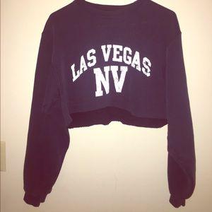 Sweaters - Cropped Crewneck Sweater