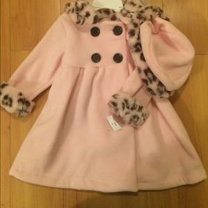 NWT Bonnie Jean winter coat and hat 18 months