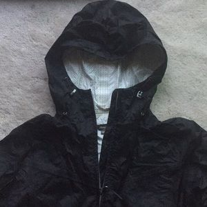 Eddie Bauer Black WeatherEdge Hooded Rain Jacket