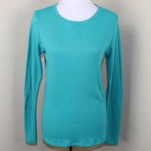 Under Armor Turquoise Long Sleeve Thermal Large