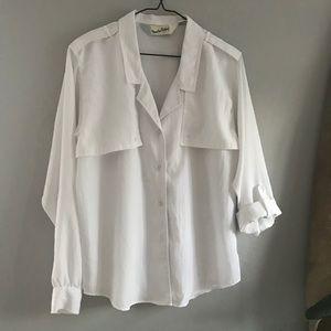 Vintage Diane Von Furstenberg white button up