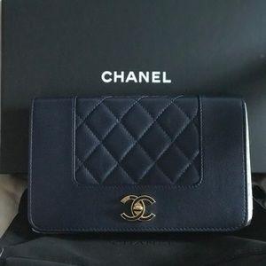 Authentic Chanel Mademoiselle Vintage WOC Bag
