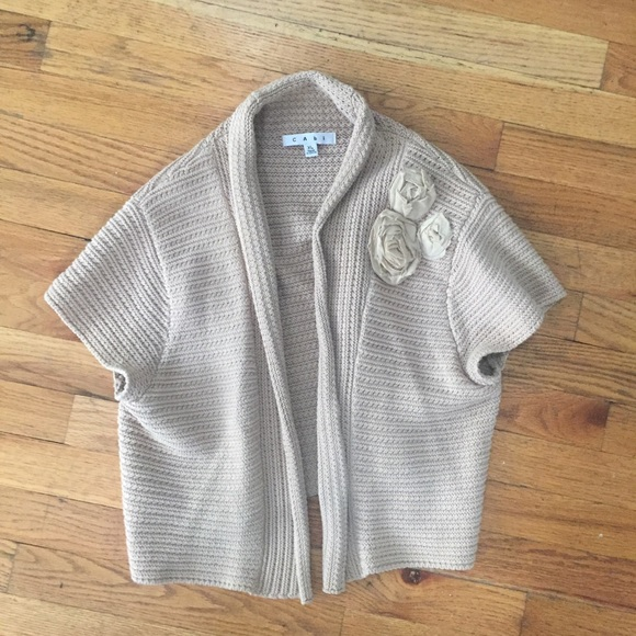 83% off CAbi Sweaters - CAbi Beige Tan Shrug Sweater from Katie's ...