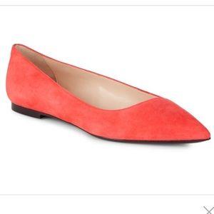749916dfdc ... Giorgio Armani • Suede Coral Ballet Flats 8.5 NEW ...