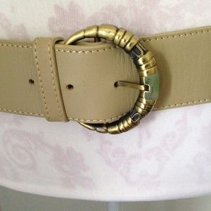 Authentic Shanghai Tang Couture Leather Belt M/L