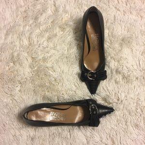 Salvatore Ferragamo pointed toe kitten heels 6