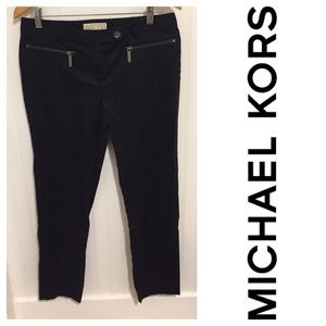 Michael Kors black slim zipper Pants 6