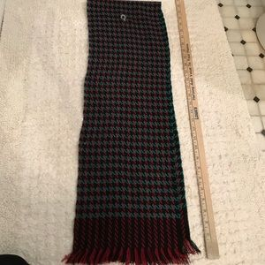 Accessories - Red green black plaid scarf