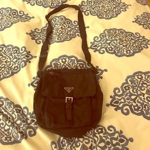 Prada Nylon Messenger Cross Body Bag