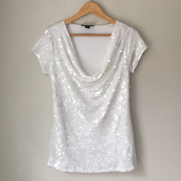 829df568e6154 INC International Concepts Tops - INC International Concepts White Sequin  Top