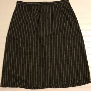 Vintage wool striped midi skirt