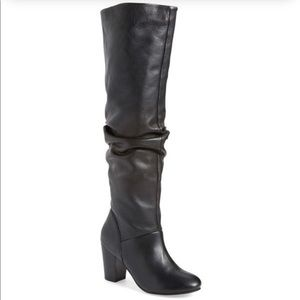 Seychelles Leather Knee High Scrunch Boots 10