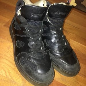 Size 8.5 puma Alexander McQueen leather shoes