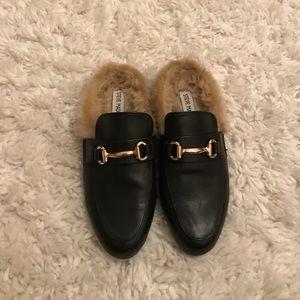 Steve Madden fur slippers