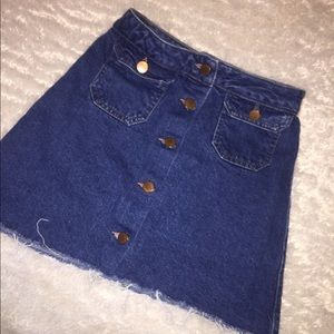 Asos denim jean skirt with buttons size 4