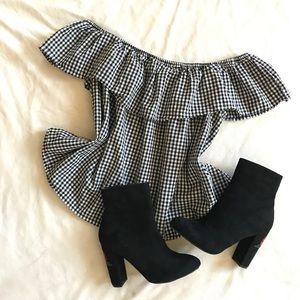 Tops - Gingham Ruffle Top