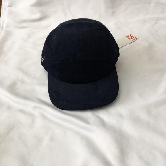 Lacoste navy corduroy baseball hat ad0199645a3