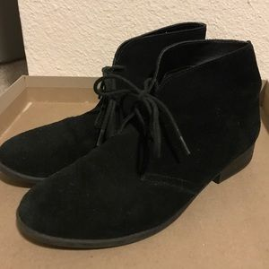 DV by Dolce Vita Bailey Black Suede Booties 6.5