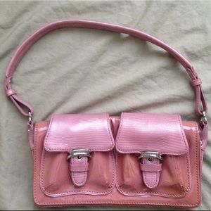 Cole Haan small patent leather handbag