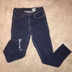 H&M Raw Hem High Waisted Skinny Jeans