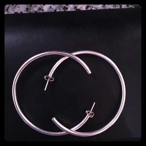 "Giani Bernini 2"" sterling silver hoop earrings"