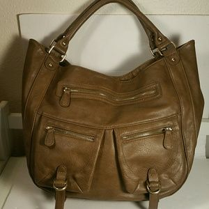 Handbags - Stylish brown shoulder bag