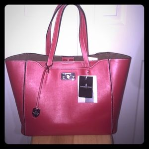 NWT Red London Fog Large Satchel