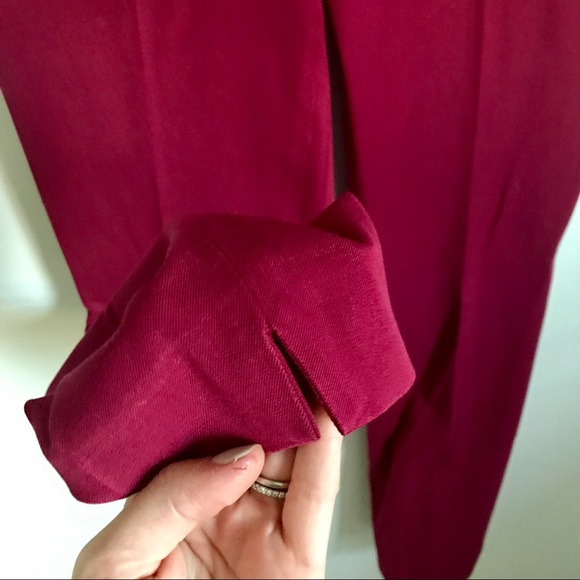 Banana Republic Pants - Banana Republic Burgundy Red Sloan Ankle Pants 0