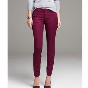 Banana Republic Burgundy Red Sloan Ankle Pants 0