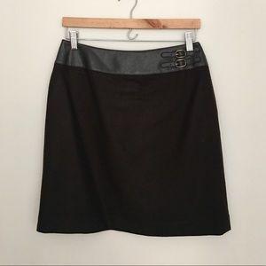 Petite Sophisticate Brown Wool Skirt