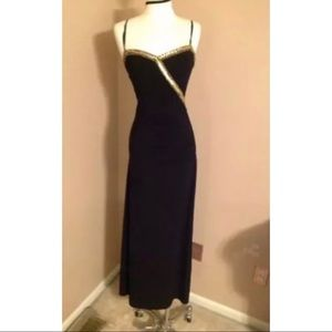 Dresses & Skirts - Black Formal/Prom Dress with Gold Sequin Detailing
