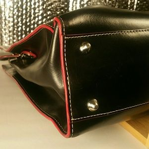 Lodis Bags - Lodis Briefcase - Leather Black and Red
