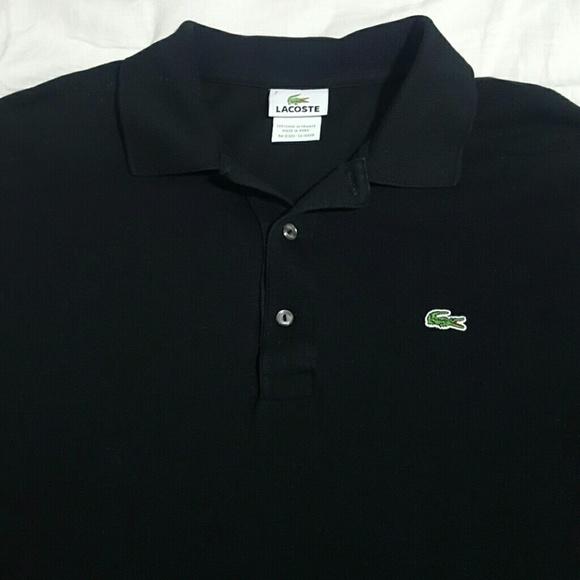 03f1899f Lacoste Polo Shirt 3-Button Black Size 7