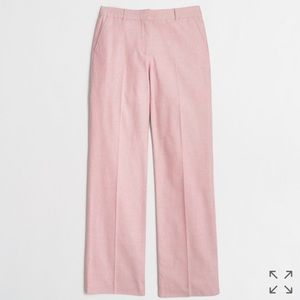 J.Crew Barn Pink Cotton Oxford Trouser Pants Sz. 2
