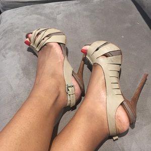 Taupe L.A.M.B Platform Heels