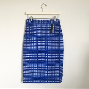 Banana Republic Blue and White Pencil Skirt Sz. 0