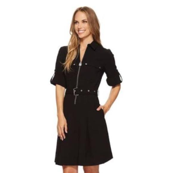 251593f73d0 Michael Kors Half-Zip Shirt Dress - Black (size M).  M 5a07c363981829be3e0f95c1
