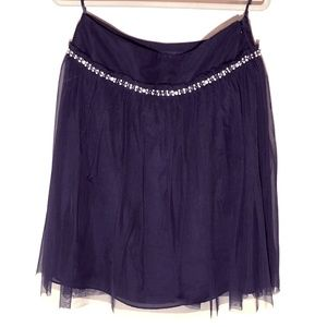 Express black knee length tulle skirt - size 6
