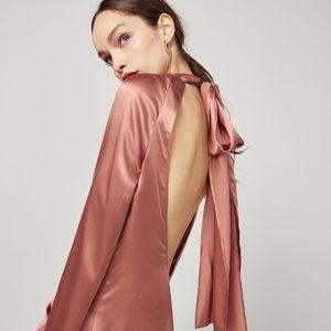 REFORMATION JAMES DRESS (NWOT) silk blush