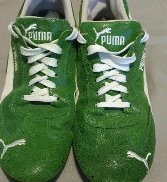 b469a4f9a9375 Vintage Puma Fast Cat Rare Suede Green Size 11M