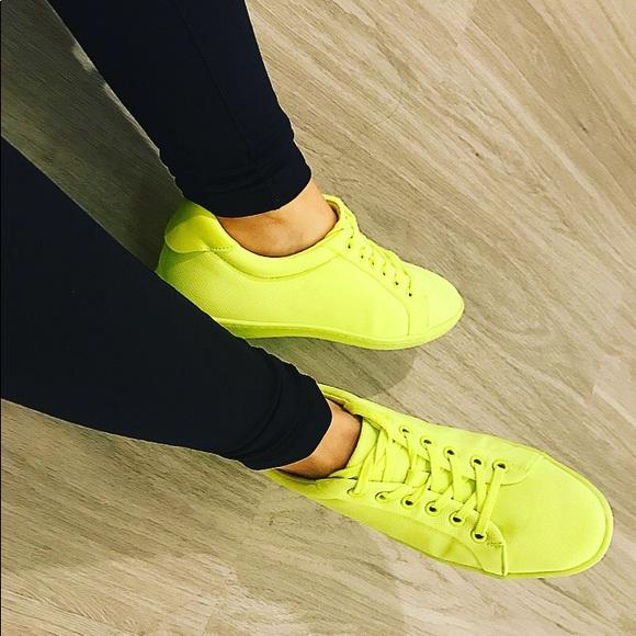 Zara Shoes | Neon Zara Sneakers | Poshmark