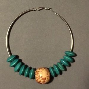 Large Bamboo hoop earrings