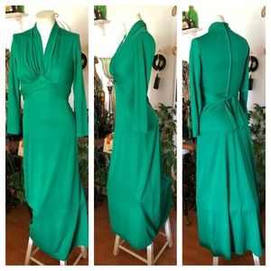Vintage Green Long Dress
