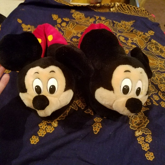 336f94beeab7 Disney Shoes - Vintage Mickey Mouse house slippers EUC