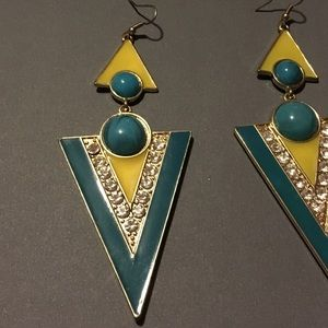 Zara Fashion Triangle Earrings