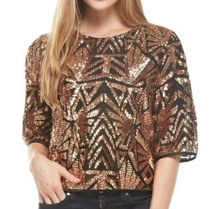 Every Rose Gold Sequin top- small
