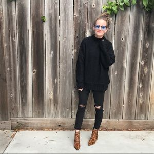 BVO Sweaters - LAST ONE! Black Chunky Knit Sweater