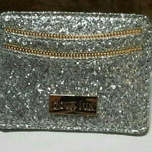 NWT Deux Lux silver card holder
